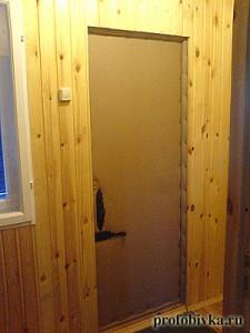 утепленная обшивка дверей