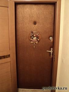кркодил обивка и утепление дверей