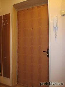 обивка и звукоизоляция двери варан
