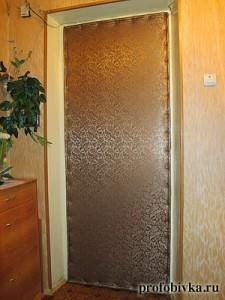обивка и звукоизоляция входных дверей