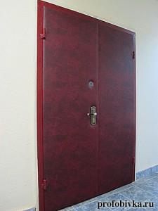 перетяжка дверей двойных