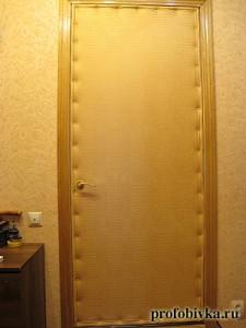 звукоизоляция входной двери обивка кожей крокодила