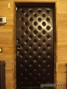 обивка входной двери москва