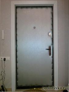 обивка металлических дверей цена
