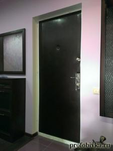 обивка металлических дверей венге