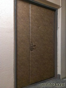 обивка металлических дверей тамбур