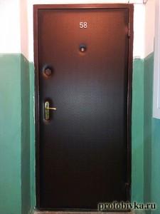 обивка металлических дверей дермантином