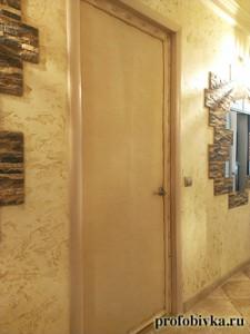обивка металлических дверей с валиком