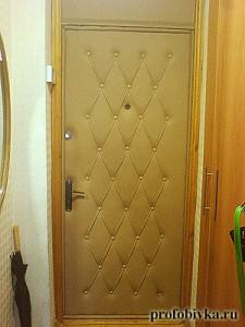 обшивка двери с перетяжкой