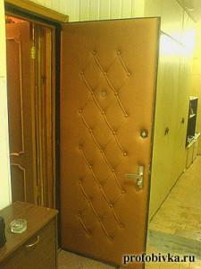фото обитых дверей металлических