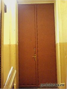 фото обивки двери нестандартной