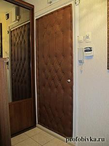 обивка дверей с рисунком