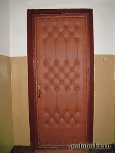 обшивка дверей фото