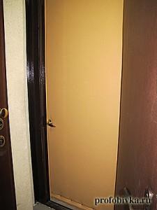 утепление и обивка входной двери