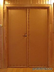 утепление двери загородного дома