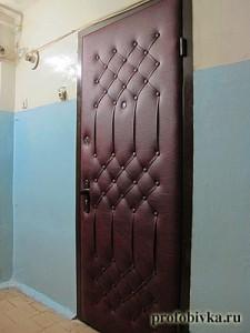 обивка дверей дермантином с рисунком