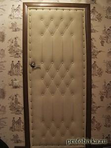 фотография обитой двери