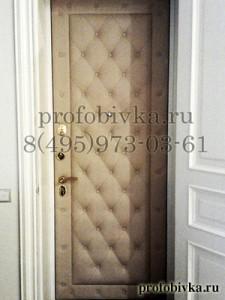 отделка двери каретной стяжкой