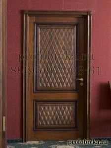 элитная отделка дверей кожей по индивидуальным заказам