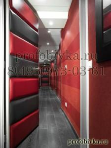 отделка дверей мягкими панелями в офисе