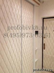 элитная мягкая отделка дверей шкафа-купе и входной двери экокожей