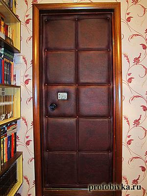 винилкожа двери входные