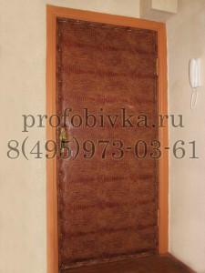 обивка деревянной двери винилискожей Крокодил