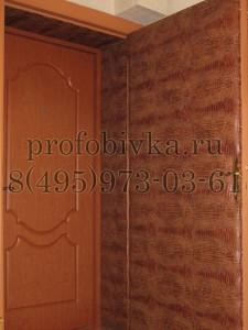 обивка деревянной двери и доборов