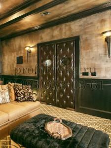 звукоизоляция и обивка дверей домашнего кинотеатра