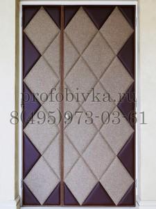 элитная обивка двери мягкими панелями