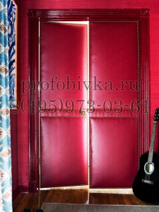 эксклюзивная мягкая обивка двери красной кожей