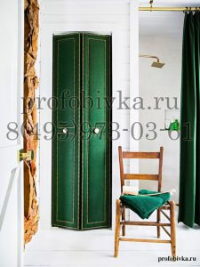 дизайнерская обивка двери тканью