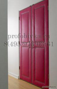 декорирование двери экокожей с молдингом