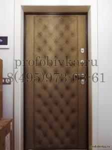 входная дверь в алькантаре
