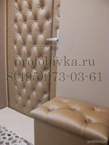 обивка металлической двери каретной стяжкой