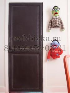 декоратиная отделка дверикожей и молдингом
