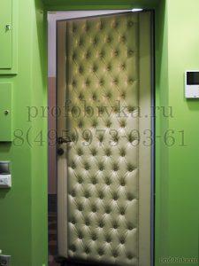 обивка дверей экокожей