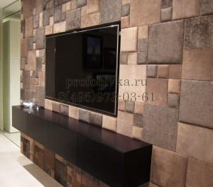 мягкие стеновые панели из кожи в интерьере обивка стен