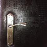 замена замка и обивка двери крокодил