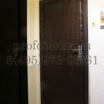 шумоизоляция и обивка деревянной двери с двух сторон