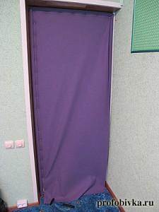 как самостоятельно обить дверь