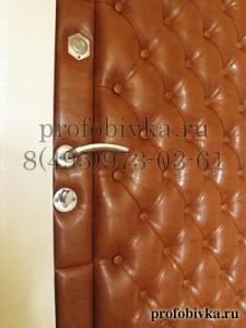 обивка двери каретной стяжкой по индивидуальному заказу