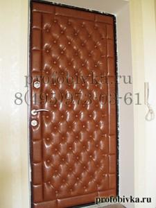 элитная отделка двери каретной стяжкой