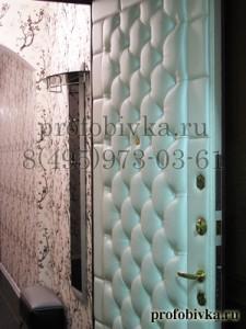 каретная стяжка на входной металлической двери